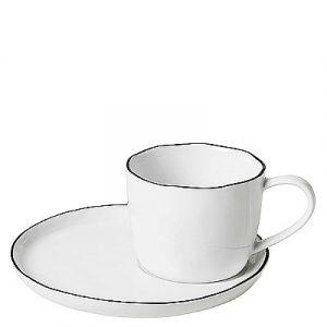 """Tasse à café avec sa soucoupe """"Salt"""""""