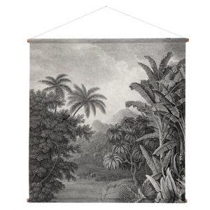 """Tableau mural en coton imprimé """"Jungle"""""""