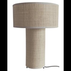 """Lampe de table """"Saturne"""" – Rafia"""