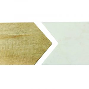 """Planche rectangulaire """"White Marble & Wood"""" – Double"""