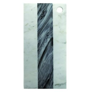 """Planche rectangulaire """"White & Grey Marble"""" – Large"""