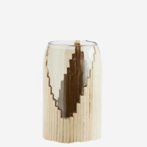 Vase en verre avec rotin – Small