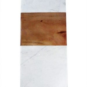 """Planche rectangulaire """"White Marble & Wood"""""""