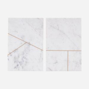 Planche en marbre blanc