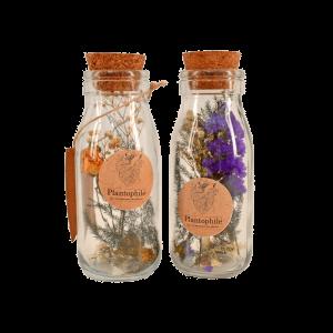 Bouteille avec fleurs séchées – Medium